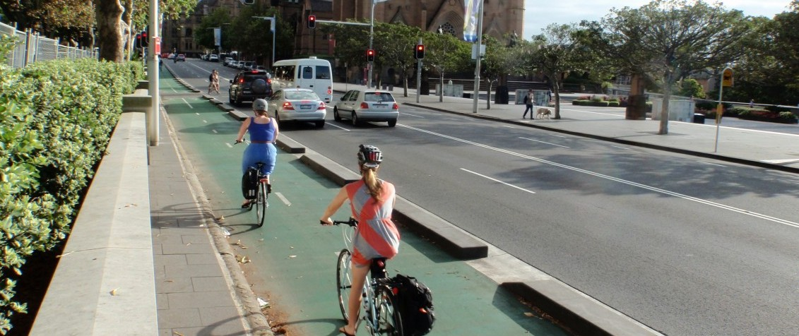 The College Street Cycleway - Sydney CBD
