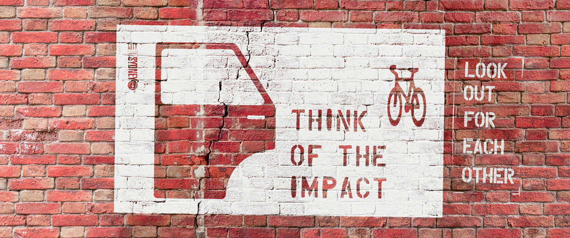 Receive FREE think of the impact Stickers